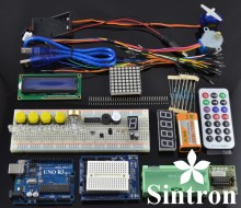 [Sintron] UNO R3 Upgrade Kit with Motor LCD Servo Module for Arduino AVR Starter цена