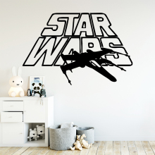 Drop Shipping star wars Pvc Wall Decals Home Decor For Kids Rooms Removable