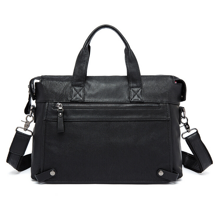Cowhide leather men s handbag high quility bag free shipping