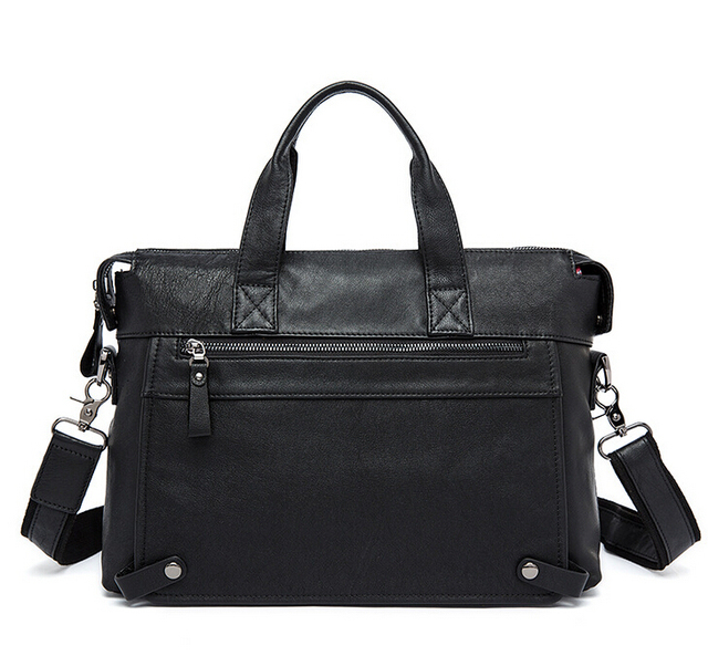 Cowhide leather men's handbag high quility bag free shipping
