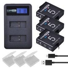3 шт. 1600 мАч Gopro Hero 5 батареи AHDBT-501 AHDBT501 Bateria + ЖК-дисплей USB двойной Зарядное устройство для GoPro 5 Hero5 AHDBT 501 4 К Камера