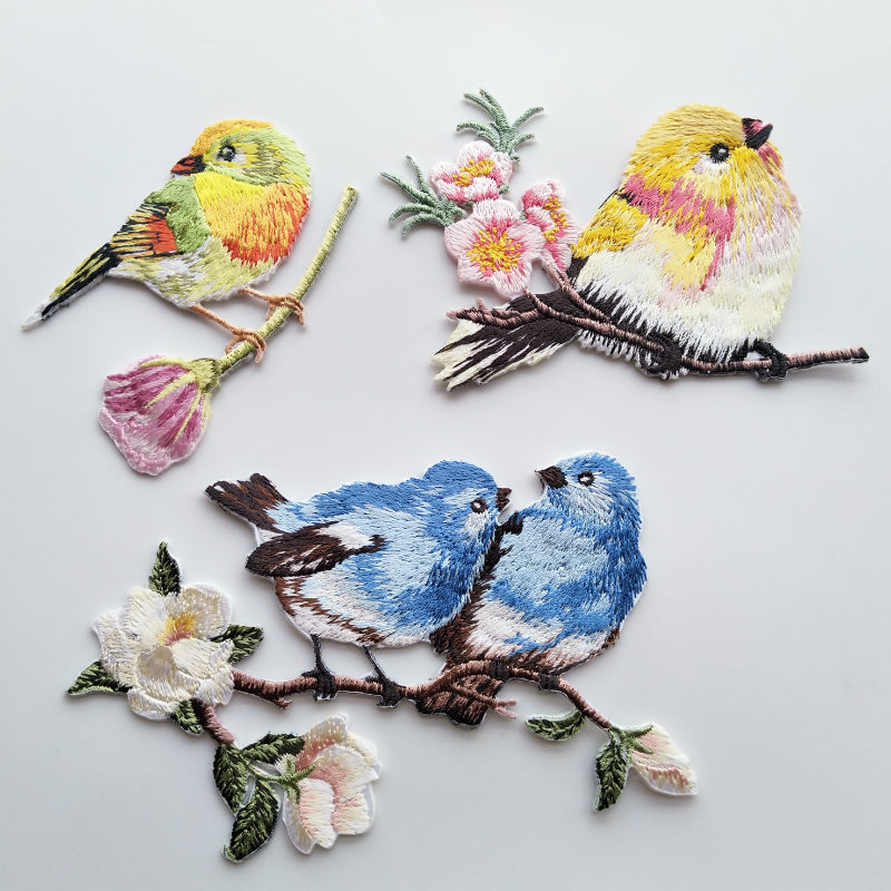 1PC~BIRD HOUSE~IRON ON EMBROIDERED APPLIQUE PATCH