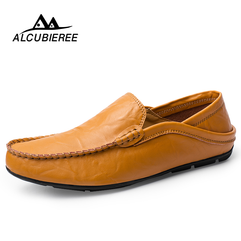 Luxury Causal Shoes Men Leather Loafers Moccasins Male Sneakers Genuine Leather Boat Shoe High Quality Adult Footwear Cheap Shoe genuine leather sneakers men loafers moccasins fashion causal shoes men slip on oxford footwear male brand designer high quality