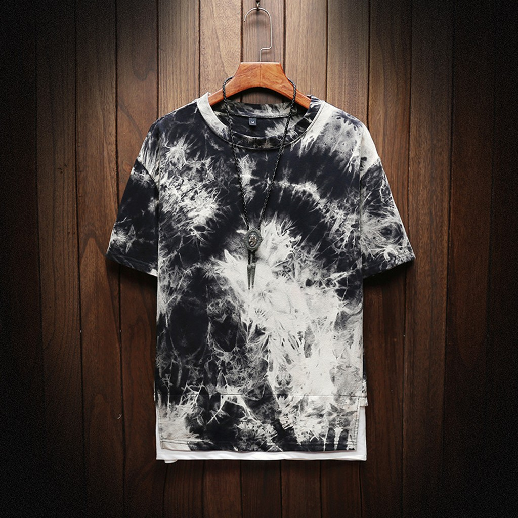summer mens new fake two men t shirt camouflage