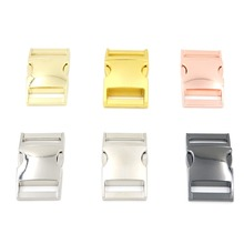 6pcs 25mm Mix 6 Colors Metal Release Buckles Clasps For Paracord Backpack Webbing Bracelets