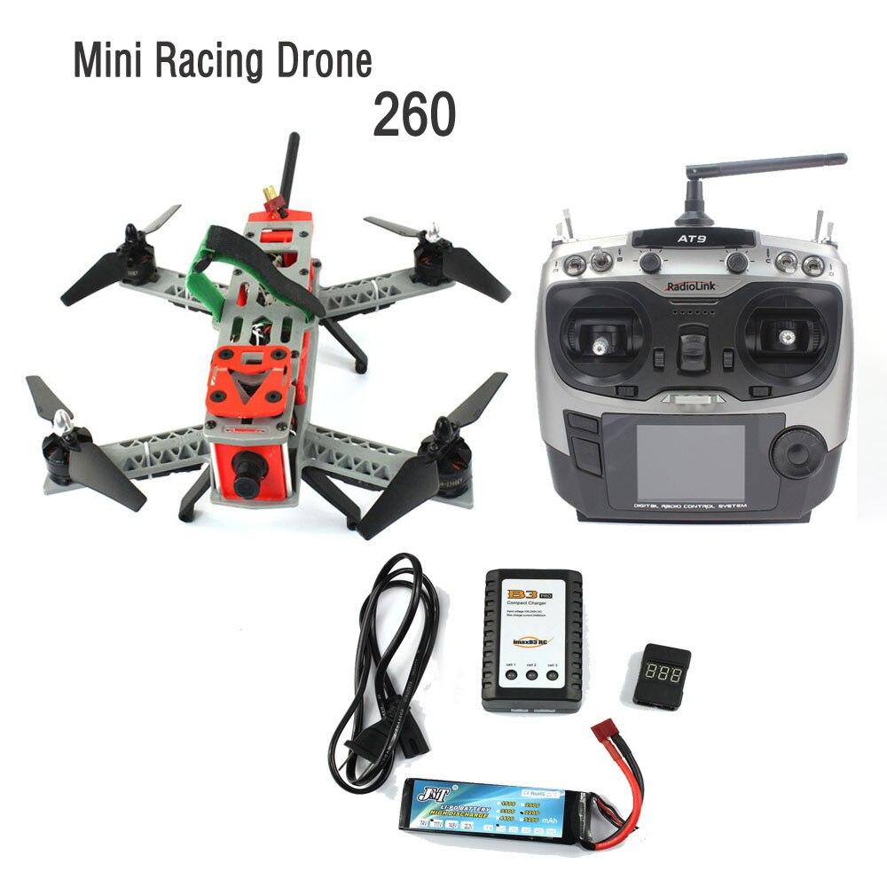 JMT Mini 260 2.4G 9CH SP Racing F3 DIY Quacopter Kit Full RTF FPV RC Drone 700TVL HD Camera 5.8G Video TX Carrying Bag F16051-K
