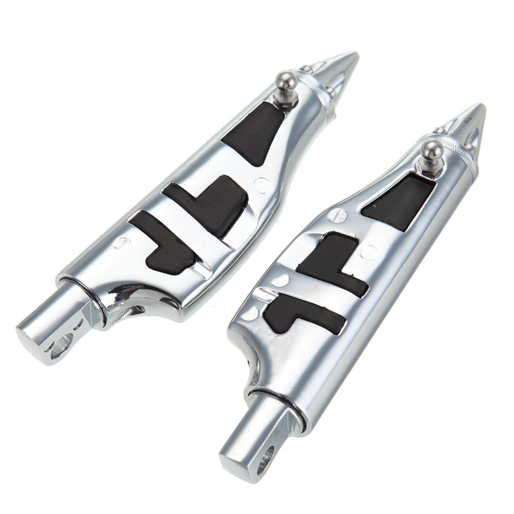 Motorcycle Aluminum Rubber Chrome Stiletto Pegs Foot pegs Footpegs Footrests For Kawasaki Vulcan Voyager Vaquero