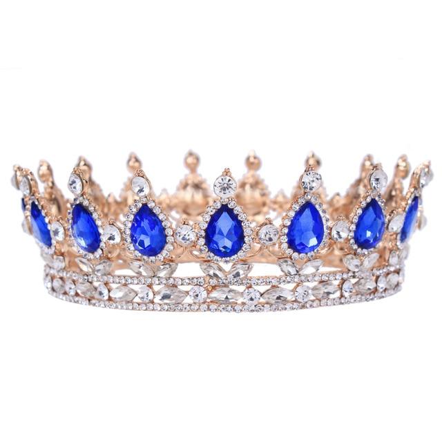 Vintage Barroco Reina Novia Tiara Corona Para Las Mujeres Tocado