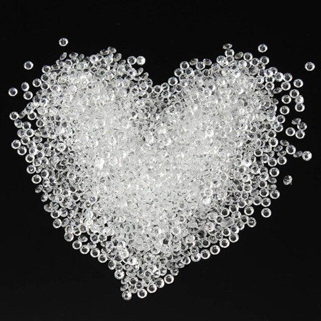 Nowy 2000 sztuk mieszane kolor akrylowe kryształ diament 4.5mm kryształowy kamień wesele dekoracja stołu pulpit dekoracji