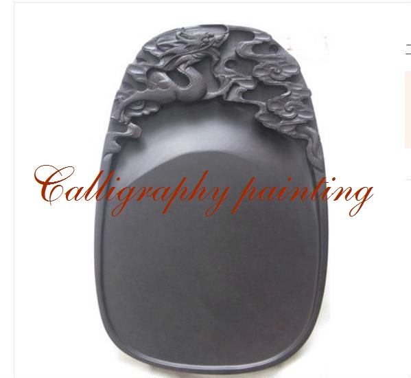 10 Inches Chinese Zhaoqing Duan Yan Ink Stone Carved Dragon Inkstone Calligraphy Painting Tool 12635 chinese zhaoqing song keng inkstone horse pattern inkstone calligraphy painting tool 12838