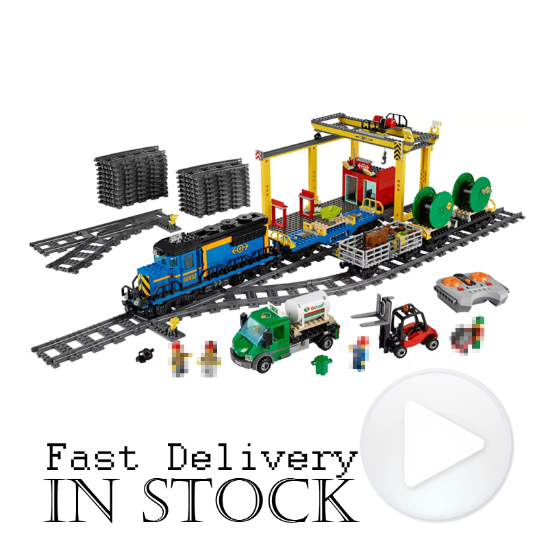 LEPIN 02008 City Trains Cargo Train Crane POWER FUNCTIONS 959PCS Building Blocks Bricks Toys Compatible with legoingly 60052 power trains набор с краном 48627