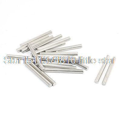 RC Helicopter 30mm x 3mm Stainless Steel Ground Shaft Round Rod 20Pcs