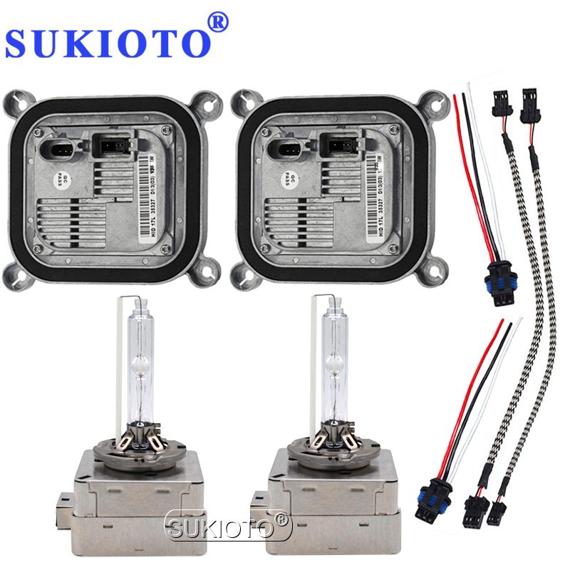 SUKIOTO Original D1S D3S D8S Xenon HID Headlight Bulb kit OEM Electronic Ballast hid kit xenon D1S 4300K 5000K 6000K 8000K 5500K freeship compatible dop dvp communication cable for dop a hmi and delta plc dopdvp plc cable replacement of dop dvp