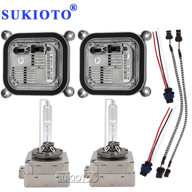 цена на SUKIOTO Original D1S D3S D8S Xenon HID Headlight Bulb kit OEM Electronic Ballast hid kit xenon D1S 4300K 5000K 6000K 8000K 5500K