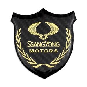 Guardabarros Badage calcomanías de Logo pegatinas coche Auto para Ssangyong Kyron Actyon Korando Rexton Presidente Tivolan Musso rodio XIV Tivoli