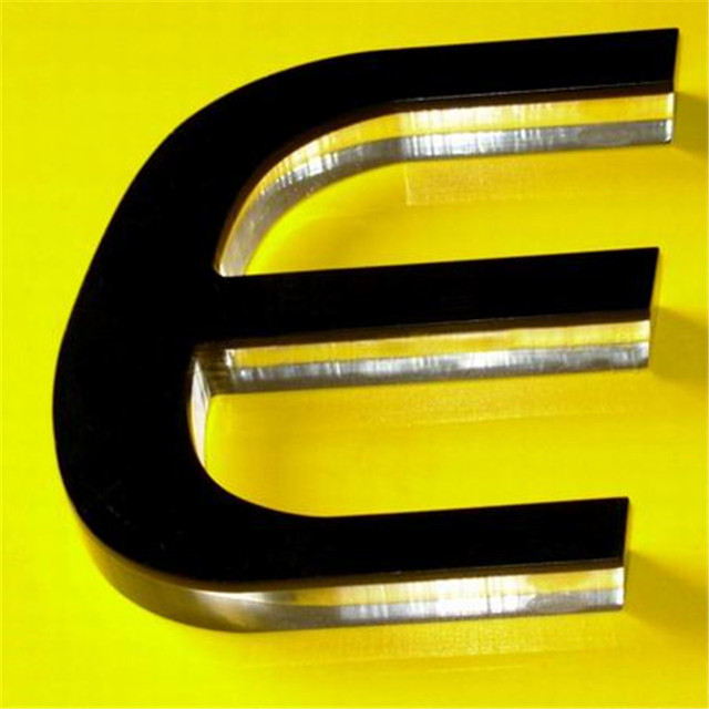 acrylic letters with the black acrylic front