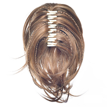 Synthetic Hair Clip In Hair Extension Curly Pony Tail Gray Claw Ponytail