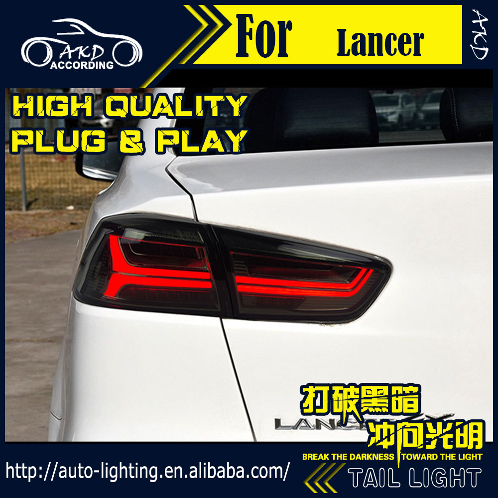 AKD Car Styling Tail Lamp for Mitsubishi Lancer Tail Lights 2008-2016 LED Tail Light Signal LED DRL Stop Rear Lamp Accessories