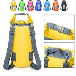 5L/10L/15L/20L Wasserdichte Taschen Lagerung Trocken Sack Tasche Für Kanu Kajak Rafting Outdoor Sport Schwimmen taschen Reise Kit Rucksack