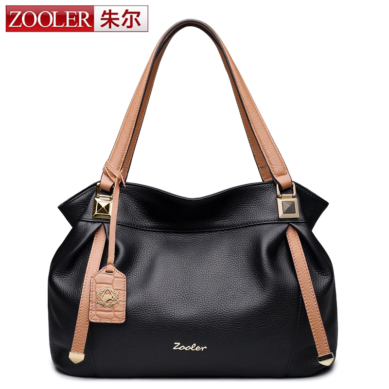 ZOOLER Brand Women Handbag Genuine Leather Tote Bag Female High Quality Classic Casual Shoulder Bags Ladies Handbags Bag Tote women vintage composite bag genuine leather handbag luxury brand women bag casual tote bags high quality shoulder bag new c325