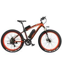 1000W Pedal Assist Electrical Bicycle Men's E bike 26'' Fat Snow Bike 48V 10Ah Lithium Ion Battery, Hydraulic Disc Brake