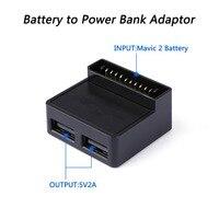 Para DJI Mavic 2 Zoom Zangão Adaptador Conversor de Bateria para Power Bank Carregador Chraging Conversor Para Acessórios Do Telefone Móvel