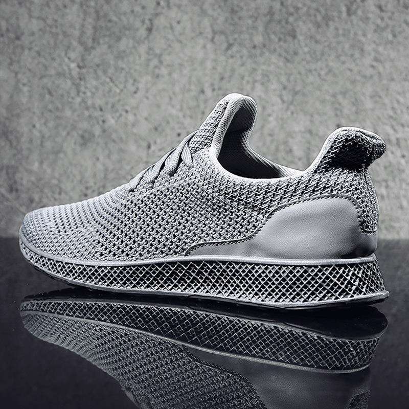 MWSC Designed Fly Weave Men's Casual Shoes Future Theory Male Breathable Lace Up Leisure Chaussure Shoes