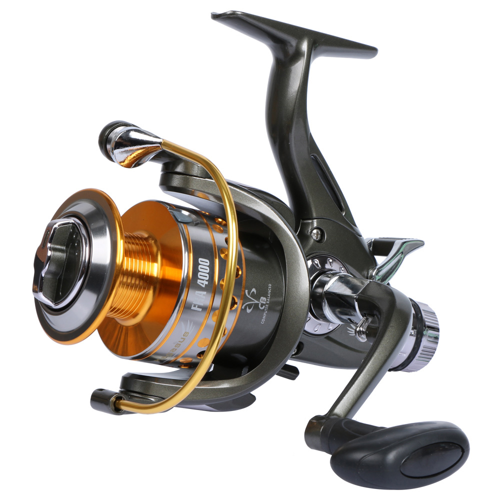 YOLO Spinning Fishing Reel Dual Feeder Feed Carp Fishing Wheel Coil 10BB 5.1: 1 with Spare Spooling Spooling Spare