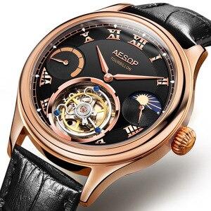 Image 2 - Часы мужские, высококлассные, с застежкой, Tourbillon, многофункциональные, механические, 7001