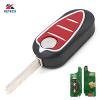 KEYECU Replacement Folding Remote Key Fob 433MHz PCF7947 for Alfa Romeo 147 156 166 GT
