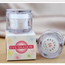 White Single Eye Shadow Powder Shimmer Highlighter Eyeshadow Palette Eyes Make Up Shining Bright Glitter Cosmetic Beauty Tool