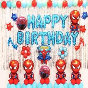 Image 4 - 85pcs/lot Superhero Avengers Kids Birthday Party Decorations Ironman Spiderman Helium Foil Balloons Babyshower Kids Toys Gift