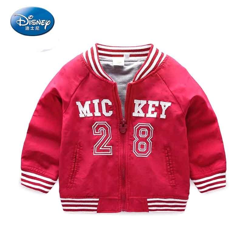 Disney Mickey Cute Mouse Child Korean Print Zipper Coat Fall Fashion Comfortable Motion Jacket