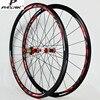 PASAK 700C Road Bike Bicycle Carbon Fiber Sealed Bearing Wheel Straight Pull V C Brakes 30MM