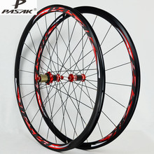 PASAK 700C Road Bike Bicycle Carbon Fiber sealed bearing Wheel Straight Pull V/C Brakes 30MM Rim Wheels
