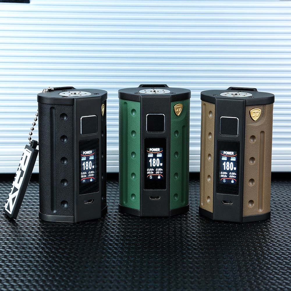 Original DEJAVU DJV D7 180W Touch Screen TC Box MOD With Big HD Color Screen No 18650 Battery Box MOD E Cig VS Luxe Mod/ DRAG 2