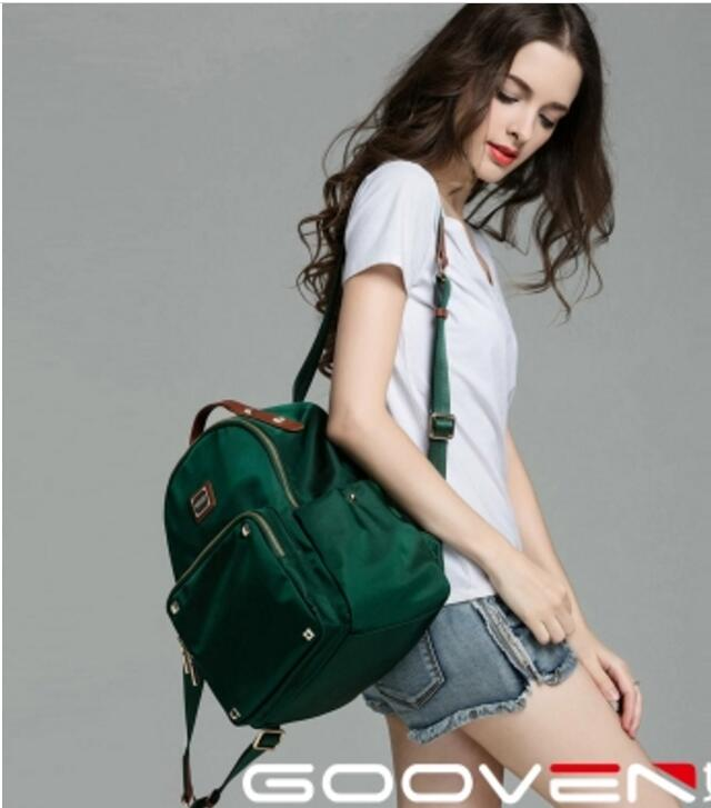 Shoulder bag female Korean version 2018 nylon Oxford Cloth rivet college wind Leisure simple waterproof Backpack School bag bags 2017 fashion women waterproof oxford backpack famous designers brand shoulder bag leisure backpack for girl and college student