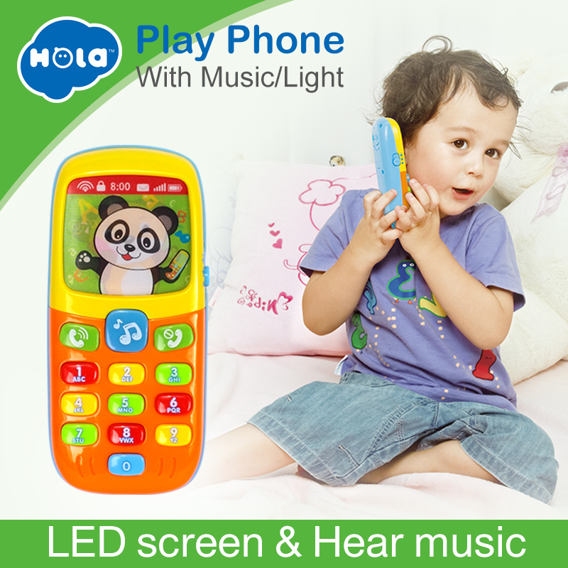 HOLA 956 Baby Toys Cellphone Mobile Phone Early Educational Learning Machine Electric Phone Model Machine Toy for ChildrenHOLA 956 Baby Toys Cellphone Mobile Phone Early Educational Learning Machine Electric Phone Model Machine Toy for Children