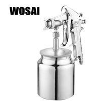 WOSAI 600ML Pneumatic Spray Gun Airbrush Sprayer Alloy Painting Atomizer Tools With Hopper For Painting Cars