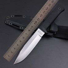 WTT VG-1 Fixed Blade Straight Knife ABS Rubber Handle Tactical Hunting Knife Combat Pocket Survival Knives Rescue Multi Tools