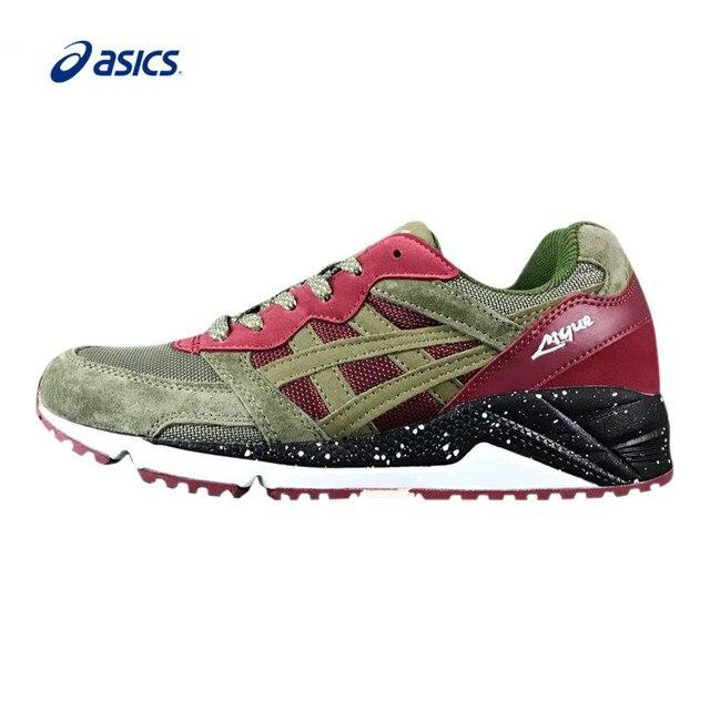 ... Asics Gel Lique Running Shoes Respirável Tampão Verde E Vermelho  Clássico de Tênis Sapatos de Desporto ... 8cc589282d5c0