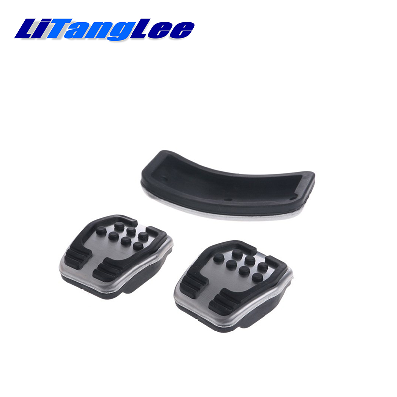 LitangLee Car Accelerator Pedal Pad Cover Foot Throttle Pedal Cover Sport  Racing Model For Ford Ka MK3 2017~2019 MT