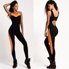 Women's fitness gym yoga set sports suit conjoined lady girl yoga suit elastic yoga pants fitness campaign Women's leggings