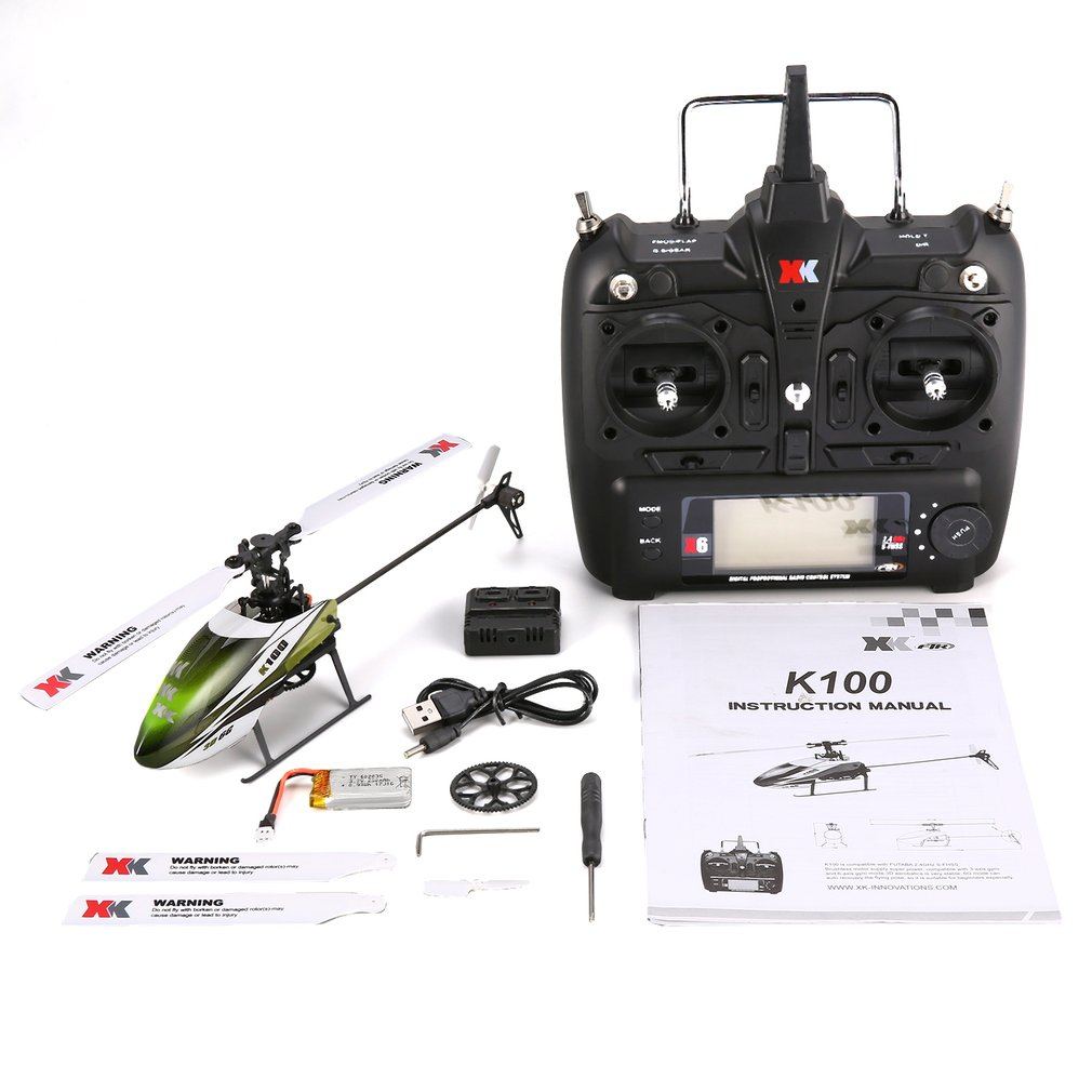 XK K100 6CH 3D 6G System Mini RC Remote Control Helicopter Drone Toys with Built in Gyro RTF for Gift Present