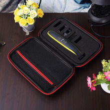 2019 Newest EVA Hard Portable Cover Case for Philips OneBlade Trimmer Shaver and Accessories PU Travel Bag Storage Pack Box