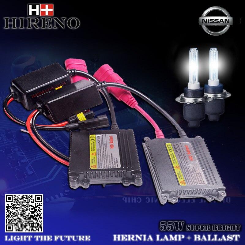 ФОТО Slim Ballast Car light source Headlight bulbs lamp Xenon Hid Kit For Nlssan X-rail Sylphy March NV200 Murano Quest Teana Sunny