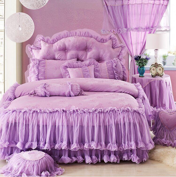 №Envío libre! romántico blanco rosa púrpura rojo falbala volantes de ...