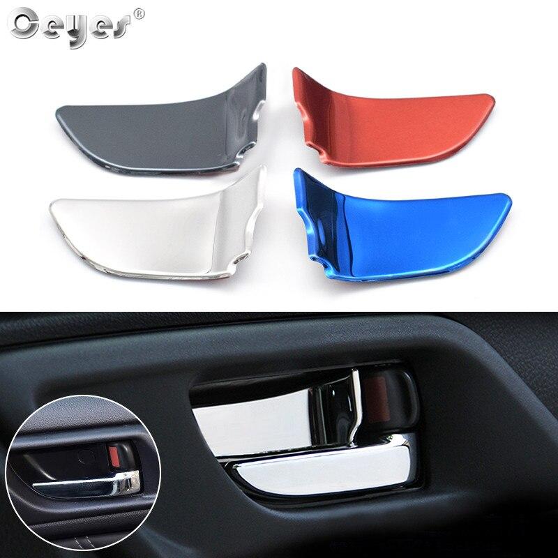 Ceyes estilo de coche Interior accesorios, Puerta de cubierta de la manija ajuste etiqueta apto para Subaru STI Forester Interior WRX legado XV BRZ