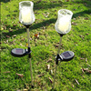 Outdoor Hallway Candle Designed Led Solar Power Stainless Steel Lawn Light Tool