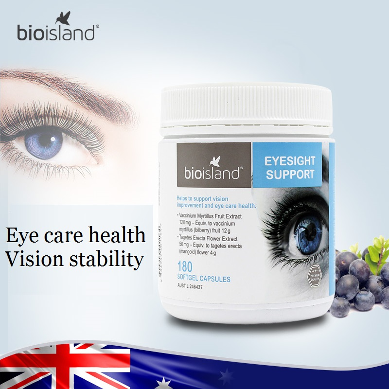 Bio Island Eyesight Support 180 Caps support eye care health and vision stability